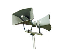 Public address system loud speaker - isolated Stock Photography