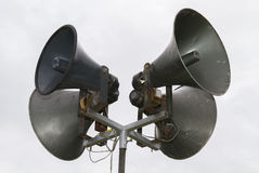 Public Address system speakers. Stock Photos