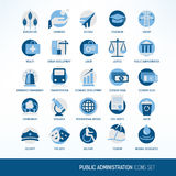 Public administration icons Royalty Free Stock Photos