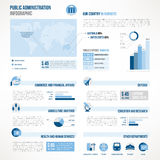 Public administration infographics Stock Photos