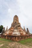 Public ancient temple in Ayuthaya, Thailand.  Royalty Free Stock Image