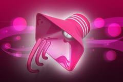 Public announcement loudspeakers Stock Photo