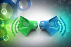 Public announcement loudspeakers Stock Images