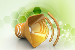 Public announcement loudspeakers Royalty Free Stock Photo
