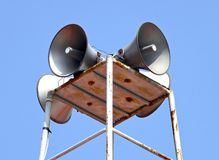 The public announcing system closeup Royalty Free Stock Photo