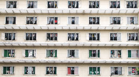 Public apartment block. In Ho Chi Minh City, Vietnam stock photography