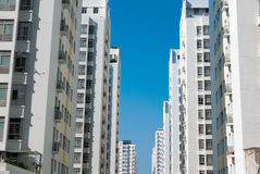 Public apartment buildings in Ho Chi Minh City, Vietnam Royalty Free Stock Photo