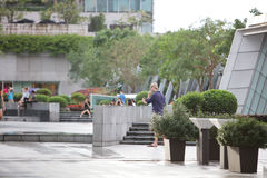 The public area at the ifc with walkway. Hk Stock Images