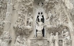 Public Art: Gaudi Facade Royalty Free Stock Photography