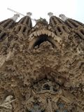 Public Art: Gaudi Facade Royalty Free Stock Photo