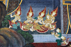 Public Art Painting at Wat Phra Kaew Stock Photography