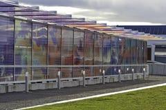 Public Art at Seattle's Olympic Sculpture Park. Public art of clouds at Seattle's Olympic Sculpture Park stock photo