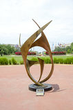 Public art on State Capitol Grounds Stock Photo