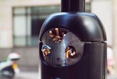 Public ashtray Stock Photography