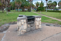 Barbecue Grill at Public Park Stock Photos