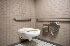 Public Bathroom. A public bathroom in an airport Stock Images
