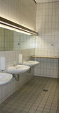 Public bathroom. A public bathroom in a building Royalty Free Stock Images