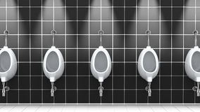 Public bathroom, 3d illustration Stock Photos