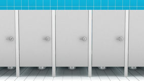 Public bathroom, 3d illustration Stock Photo
