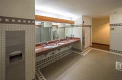 Public bathroom. In modern office building Royalty Free Stock Images