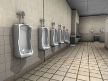 Public Bathroom Restroom Illustration Royalty Free Stock Photography