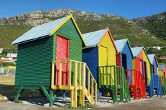 Public bathrooms of Saint James beach in Muizenberg Royalty Free Stock Photography