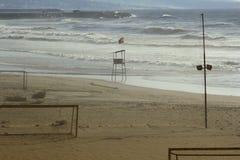 Public beach in Beirut, Lebanon. Royalty Free Stock Photography