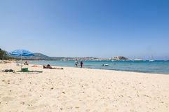 Public beach Calvi Royalty Free Stock Photography