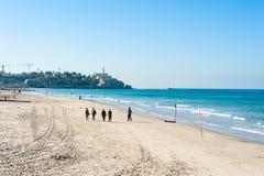 Public beach Stock Images