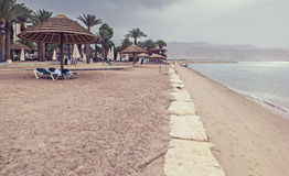 Public beach in Eilat, Israel Royalty Free Stock Images