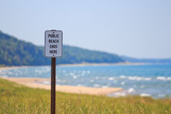 Public Beach Ends Here Royalty Free Stock Photography
