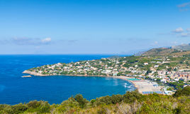Public beach of Gaeta resort town, Italy Stock Images