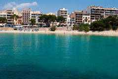 Public beach of Porto Cristo resort, Majorca Stock Photography