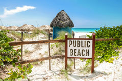 Public Beach Sign Royalty Free Stock Photos