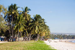 Public Beach in Tanzania Royalty Free Stock Images