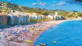 Beach at Tossa de Mar, Spain Royalty Free Stock Image