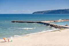 Public beach in Varna city Royalty Free Stock Photo