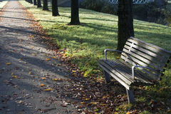 Public bench Royalty Free Stock Photo