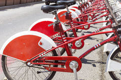 Public bicycle rental in Barcelona,Spain Royalty Free Stock Image