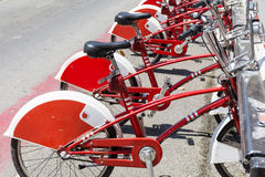 Public bicycle rental in Barcelona,Spain Royalty Free Stock Photos