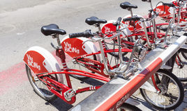 Public bicycle rental in Barcelona,Spain Royalty Free Stock Photo