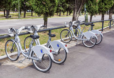 Public bicycle rental in Barcelona Royalty Free Stock Photography