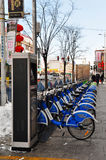 Public Bicycle Rental Station In Lhasa Tibet Royalty Free Stock Photos