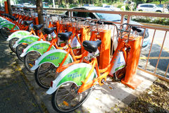 Public Bicycle Rental Station Stock Images
