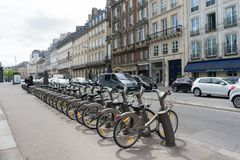 Public bicycle rental Royalty Free Stock Photography