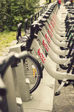 Public bicycle sharing system in Montreal Stock Photo