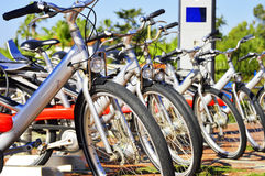 Public bicycle transportation system Stock Photos