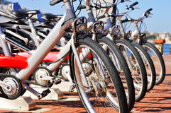 Public bicycle transportation system Royalty Free Stock Photography