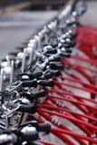 Public bicycles stock photos
