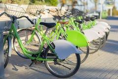 Public bicycles. Stock Photos